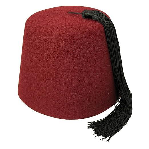 Amazon.com  elope Maroon Fez with Black Tassel  Clothing bb216d885f65