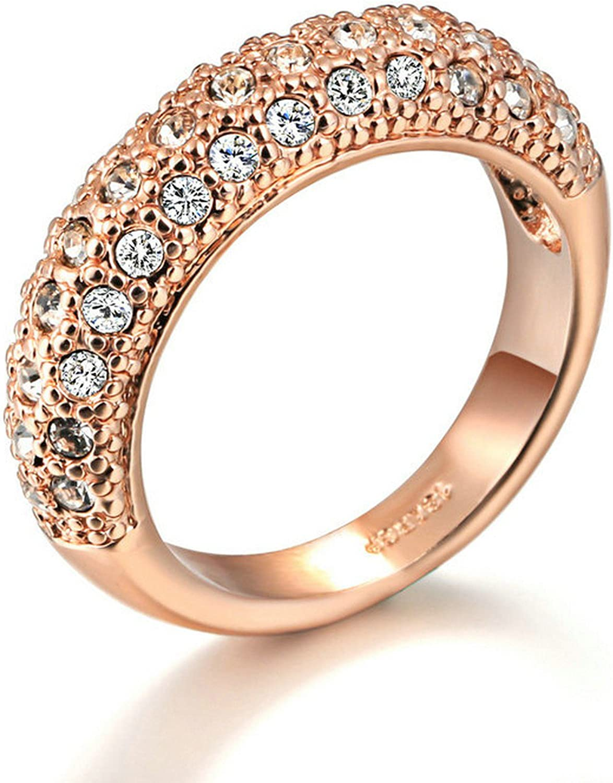 Gemmart Classic Round Anniversary Ring womens engagement rings fashion rings