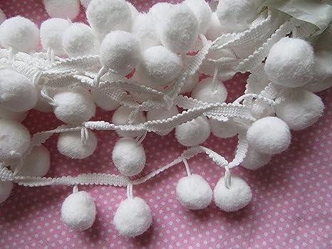YCRAFT One Roll 9 Yards Ball Fringe 1 1//4 Wide Pom Pom Trim Ribbon Sewing-Teal