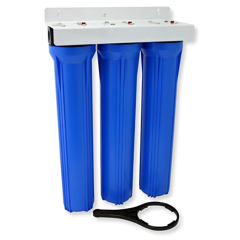 """NW-BRK03 Filtro agua 3 etapas 20"""" sedimentos 5µ 508mm filtración WilTec 50883"""