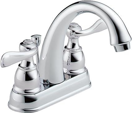 Delta Faucet Windemere Centerset Bathroom Faucet Chrome Bathroom Sink Faucet Metal Drain Assembly Chrome B2596lf Touch On Bathroom Sink Faucets Amazon Com