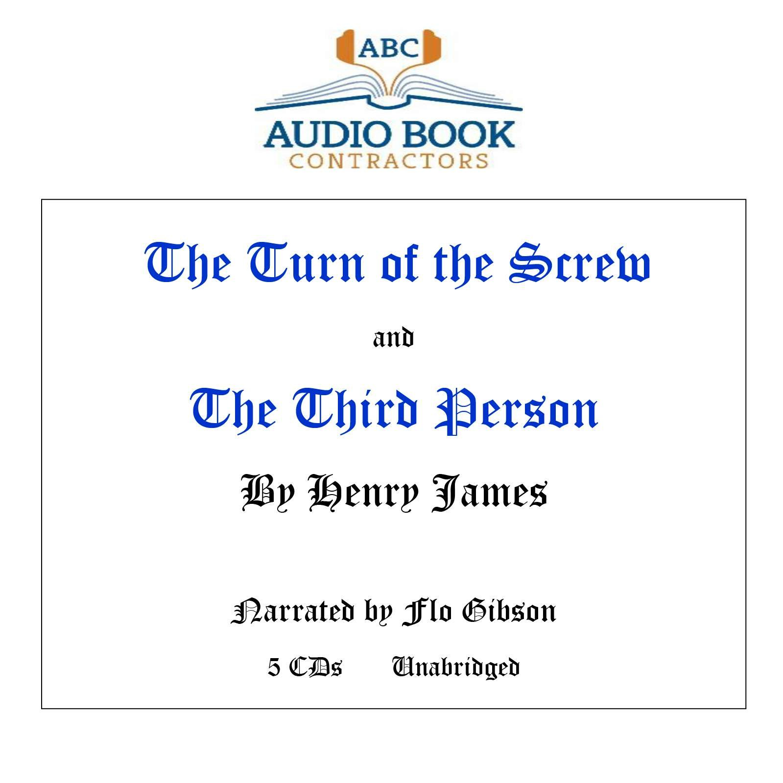 The Turn of the Screw and The Third Person (Classic Books on CD Collection) [UNABRIDGED] (Classic Books on Cds Collection) pdf