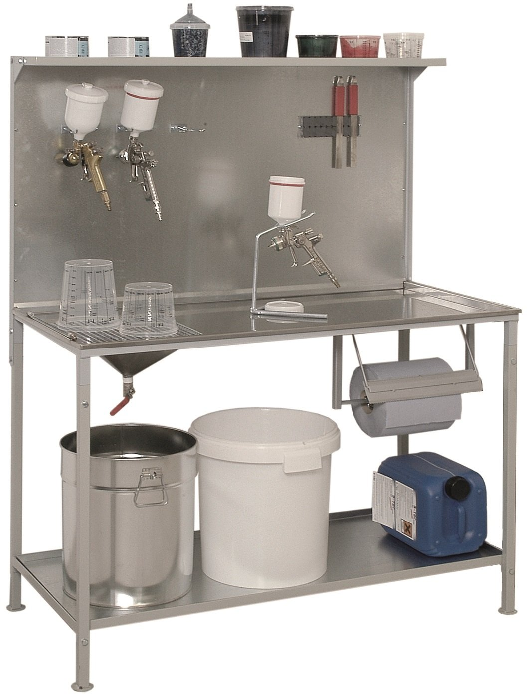 B-TEC Systems P-01 Stainless Steel Mixing and Work Table, 61'' Length x 24'' Width x 55-1/2'' Height