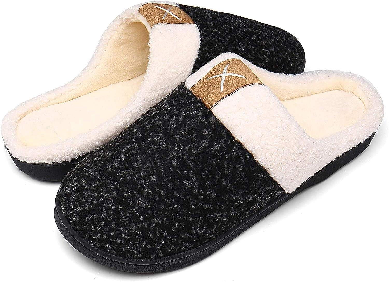 DAFENP Chaussons Hiver Homme Femme Peluche Douce Chaud Coton Pantoufles Confortable Accueil Slippers Chaussures