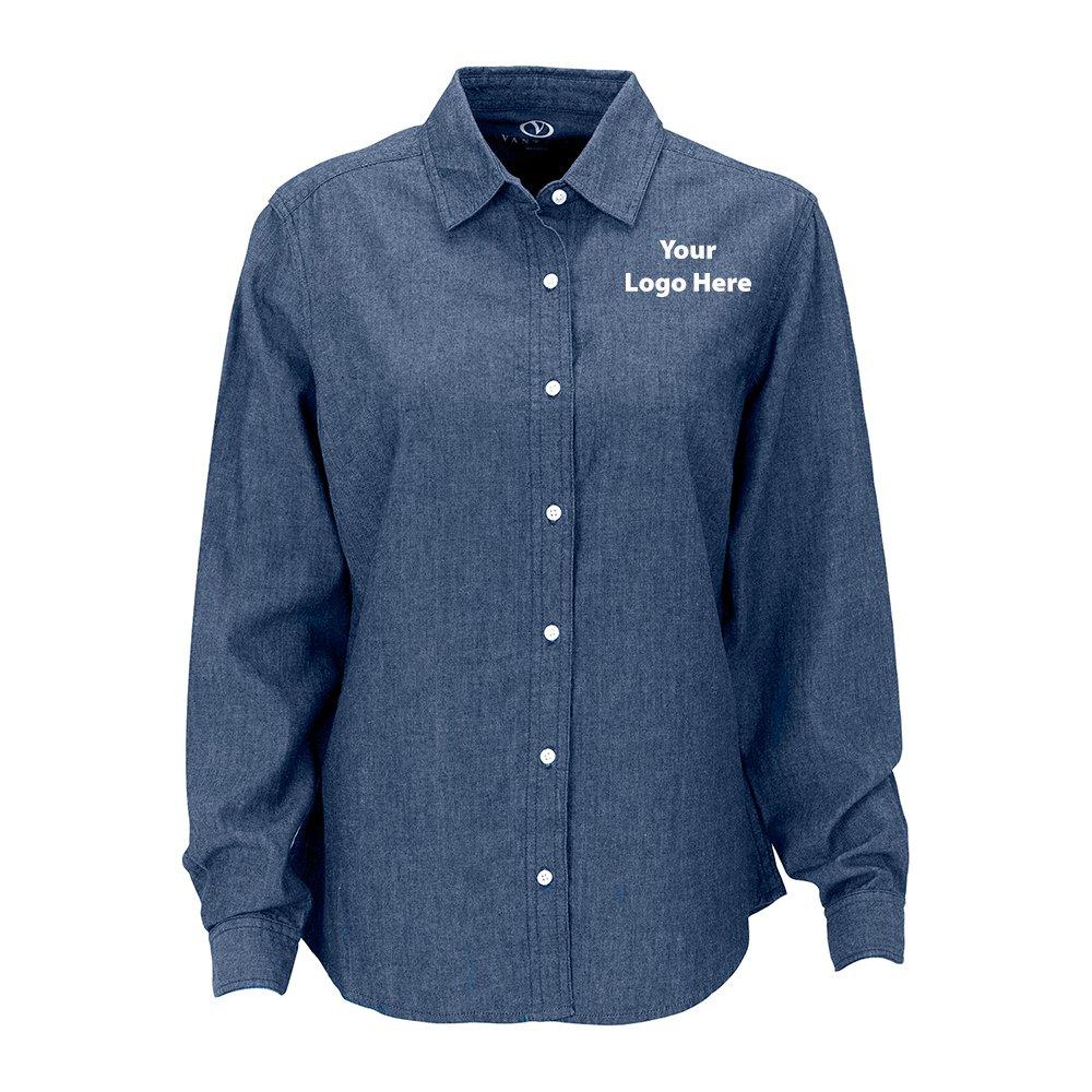 Women Hudson Denim Shirt - 12 Quantity - $46.25 Each - BRANDED/CUSTOMIZED by Sunrise Identity