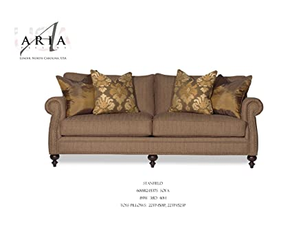 Amazon.com: Aria Designs Stanfield 2-Piece Fabric Living ...