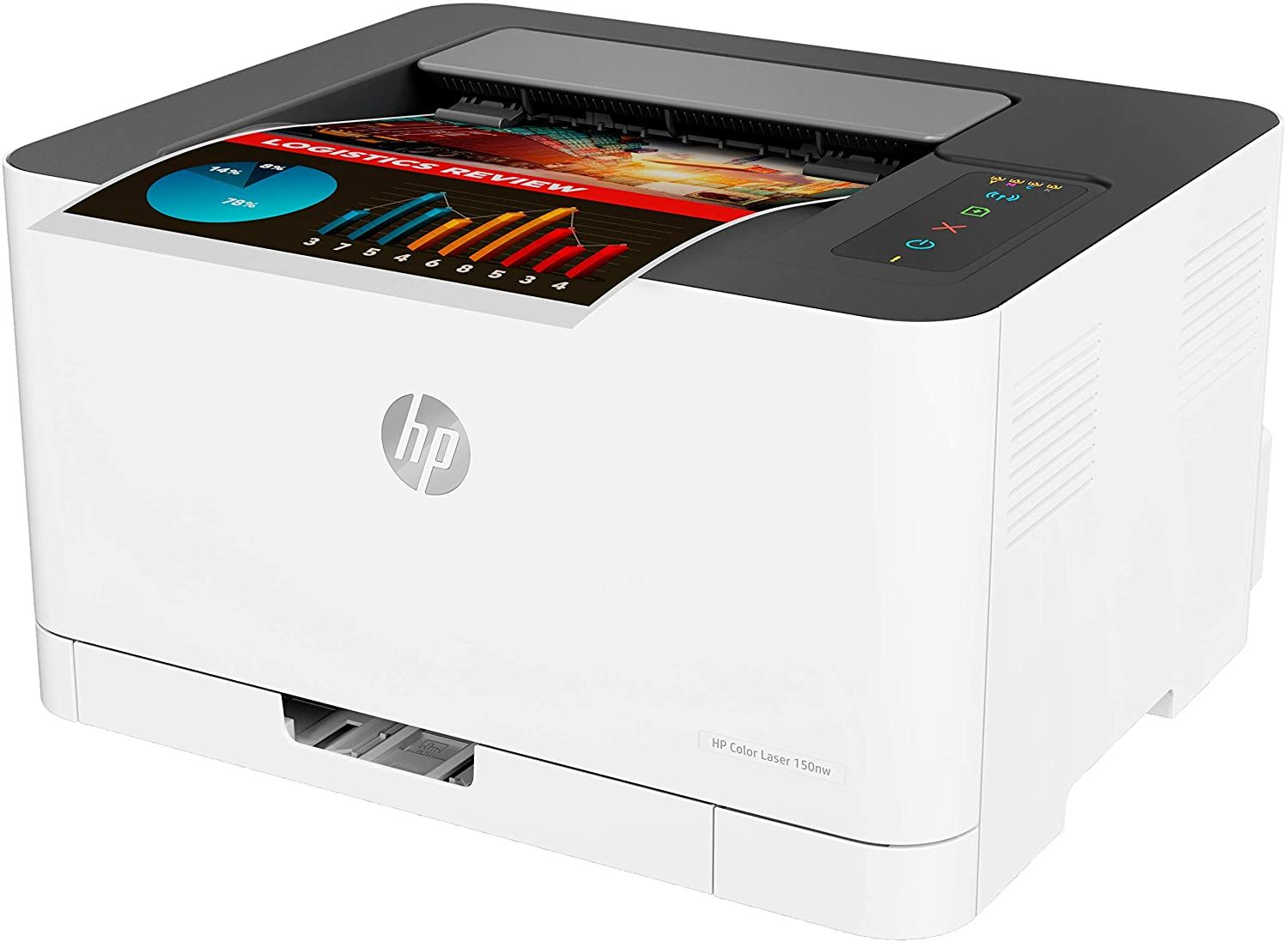 HP 150nw - Impresora Láser (WiFi Direct, 8 ppm Negro (A4), 4 ppm Color (A4), Apple AirPrint, Bandeja de Salida de 50 Hojas, LED, USB 2.0) Blanco