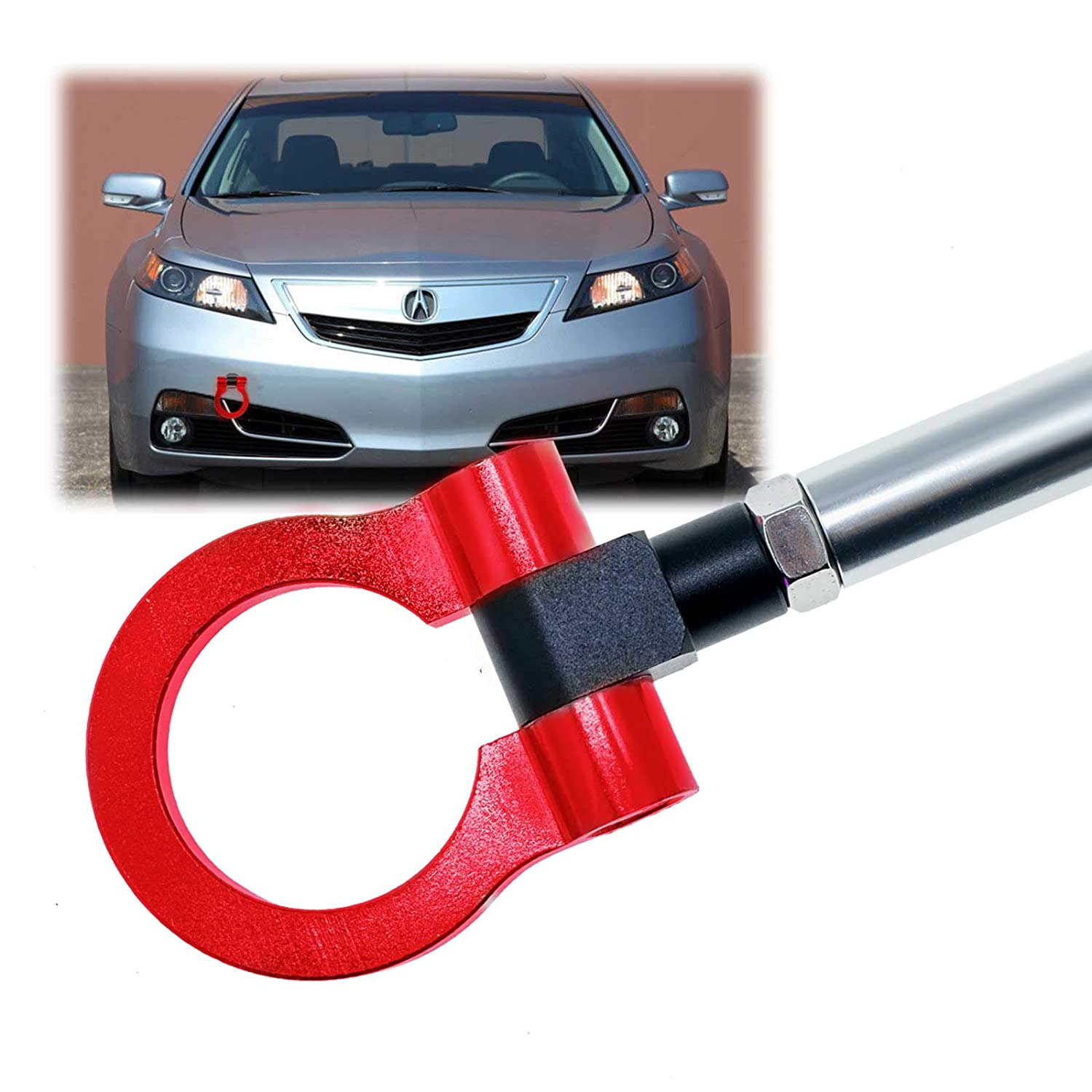 Xotic Tech JDM Track Racing CNC Aluminum Alloy Tow Hook for Honda S2000 AP1 AP2 Fit Acura TL, Red Xotic Tech Direct