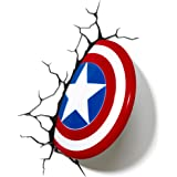 3D Light Fx Lampada da parete decorativa a LED, a forma di scudo di Capitan America della Marvel