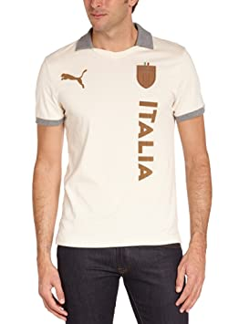 Puma FIGC Italia T7 Polo manches courtes homme Birch FR : 48/50 (Taille Fabricant : M) YMsUzFIxoF