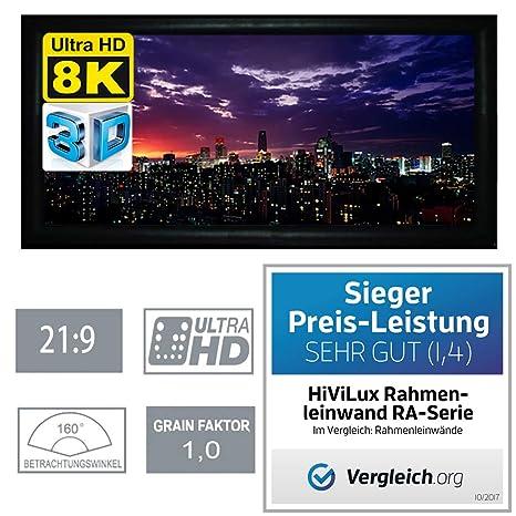 HiViLux - Pantalla marco (ganancia 1.0, tela blanca tipo cine/3D ...