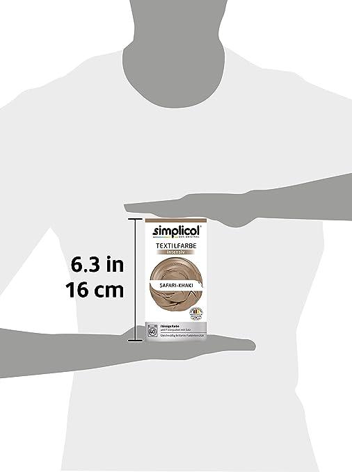 Simplicol Kit de Tinte Textile Dye Intensive Beige: Colorante para Teñir Ropa, Tejidos y Telas Lavadora, Contiene Fijador para Colorante Líquido, Anti ...