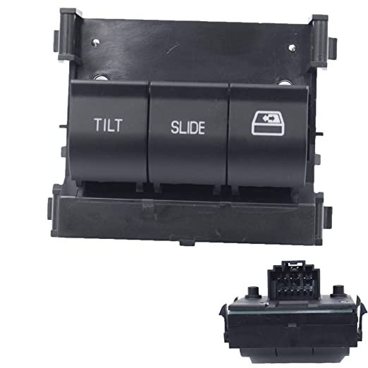 Replaces 9L3Z-15B691-DA Overhead Console Switch Rear Sliding Window Switch, Sunroof Switch 71712 Replacement for 2011-2017 Ford F150 F250 F350 F450 F550
