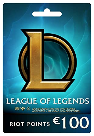 League of Legends €100 Tarjeta de regalo prepaga (15000 Riot ...