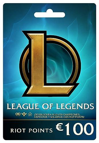 League of Legends €100 Tarjeta de regalo prepaga (15000 Riot ...