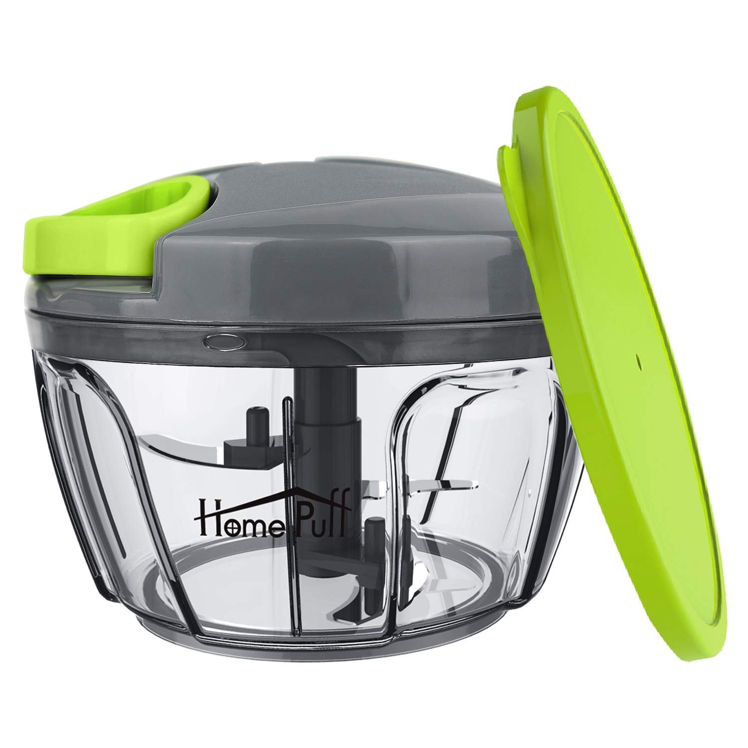 Home Puff Plastic 3 Blade Vegetable Chopper and Cutter with Storage Lid, 400 ml product image