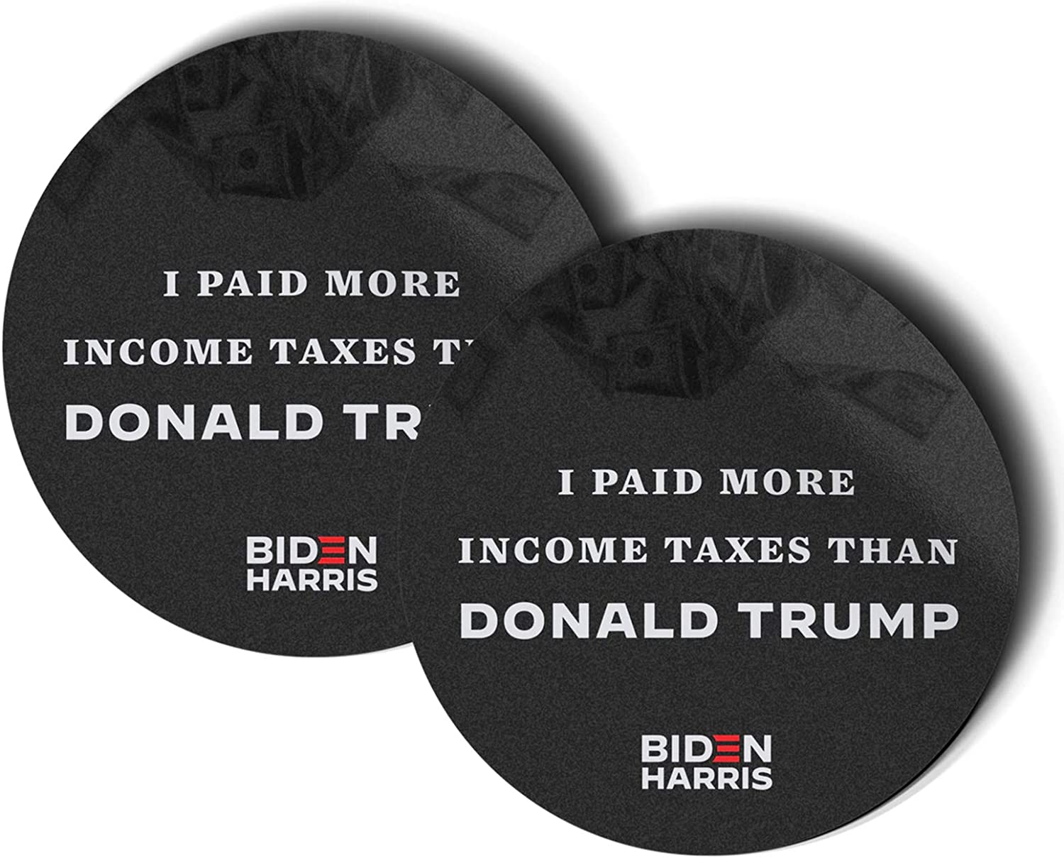 I Pay More In Taxes Than Donald Trump - Kaitellnie 2 Pcs America President Biden Harris Stickers for Adult Teen Vinyl Decal for Laptop Skateboard Water Bottle Phone Bike Car Luggage Guitar Travel Case