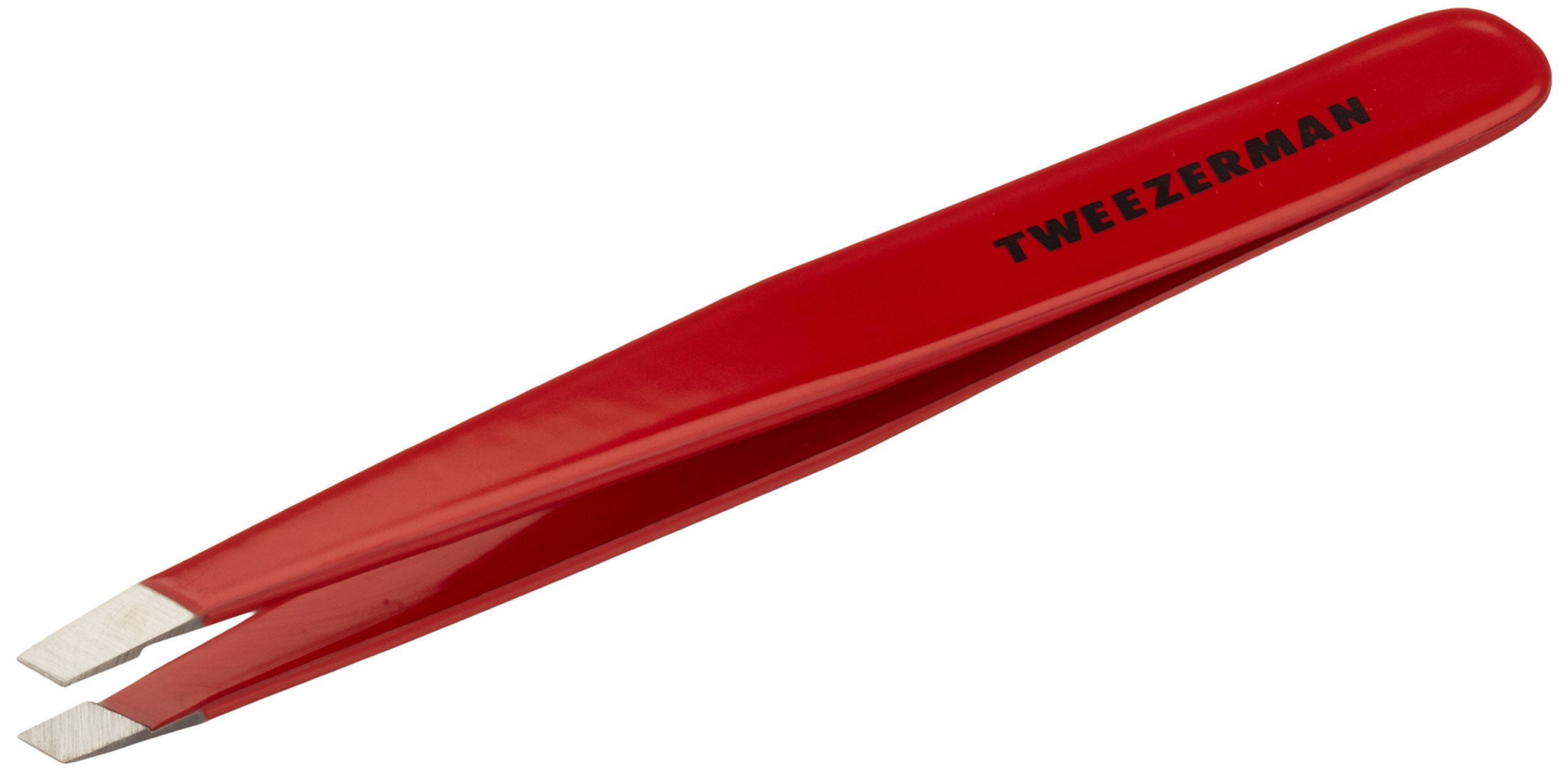 Tweezerman Stainless Steel Slant Signature Red Tweezer by Tweezerman (Image #1)