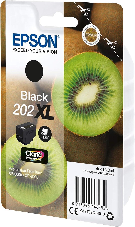 Epson Kiwi Singlepack Black 202xl Claria Premium Ink Druckerpatrone Original Tinte Auf Pigmentbasis Black Epson 1 Stück Bürobedarf Schreibwaren