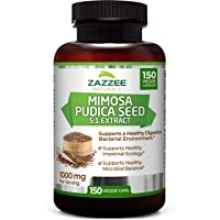 Zazzee Mimosa Pudica Seed Extract, 150 Veggie Caps, 100% Pure, 1000 mg Per Serving...