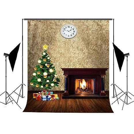 Fotografía Navidad Antecedentes, ycnet Árbol de Navidad Photography algodón arrugas libre estufa Regalos Partido decoración