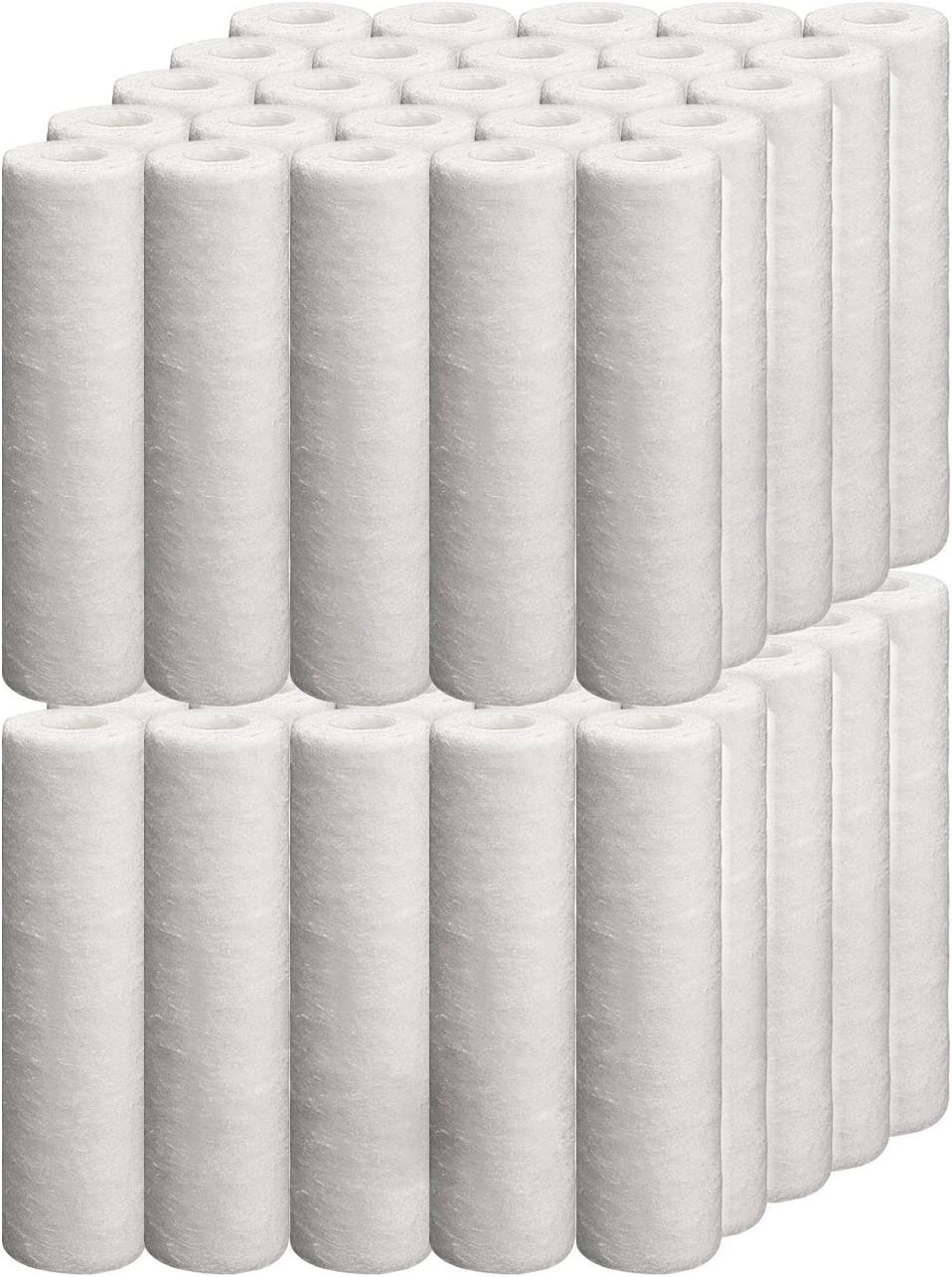 Denali Pure Brand Universal 10-inch 5-Micron Cartridge Compatible with US Water 50 to 150 GPD RO-DI System 6-Pack Replacement for US Water Systems 200-RO-DI Polypropylene Sediment Filter