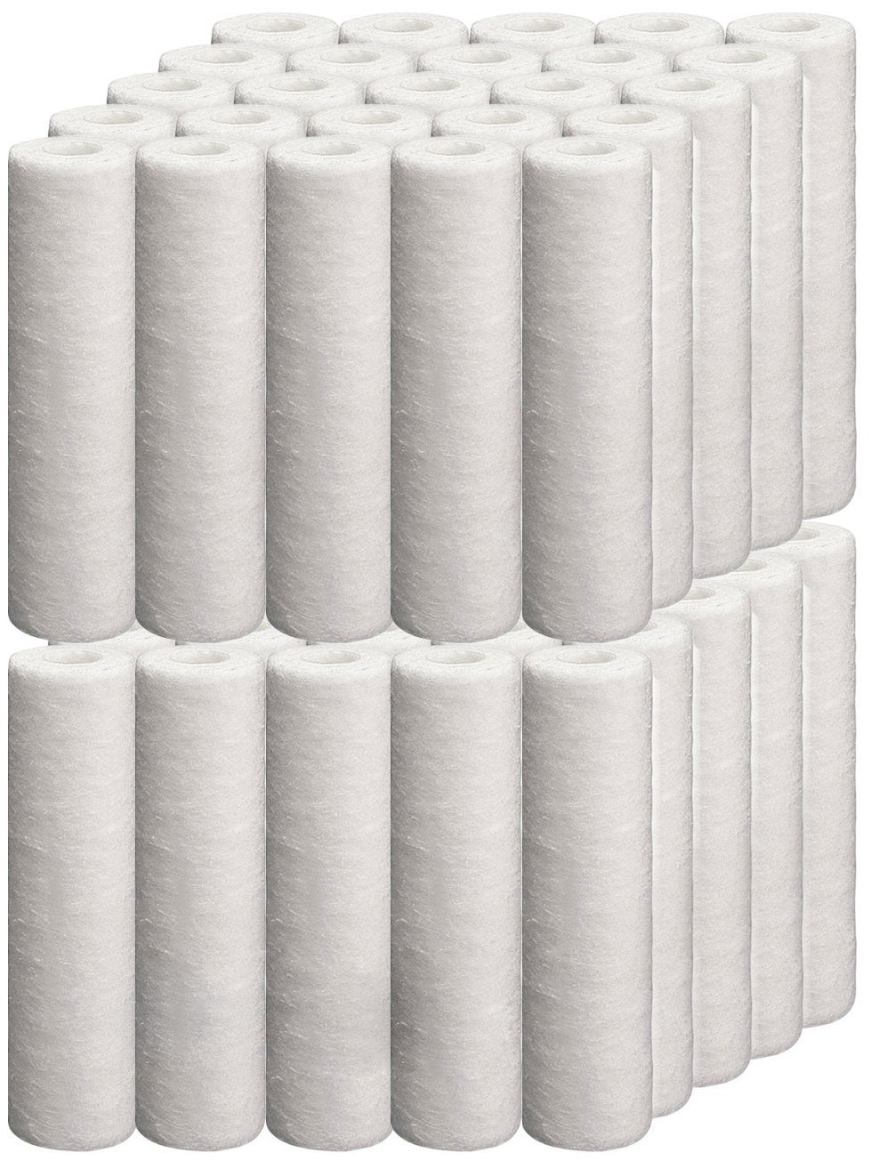 Universal 50 Pack 5-micron 10-Inch by 2.5-Inch Sediment Filter Cartridges, 10''x2.5'' by Isopure Water