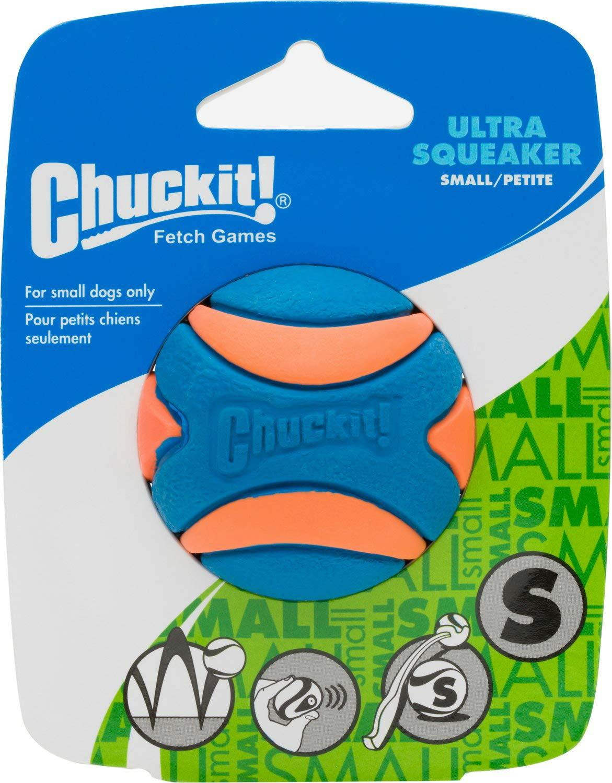 Chuckit! Ultra Squeaker Ball Orange & Blue, Small 12ct (12 x 1ct) by Chuck It!