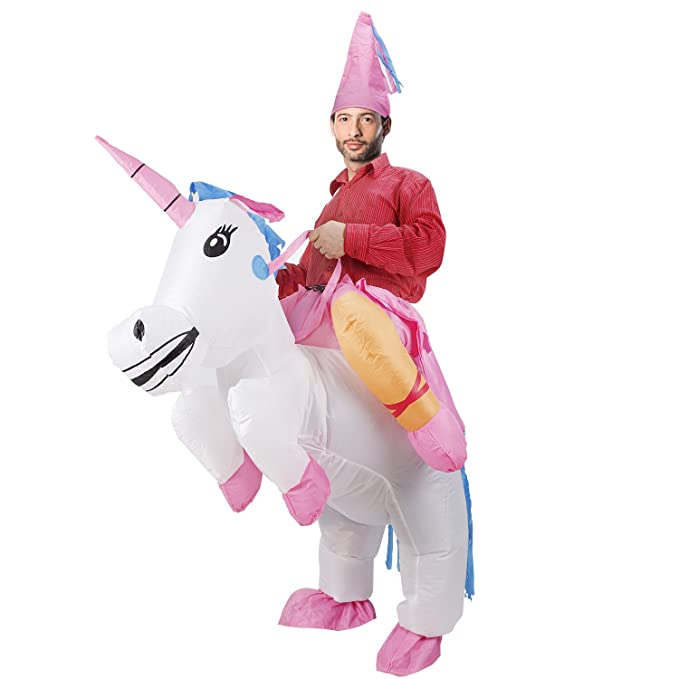 Amazon.com: lionvi disfraz de unicornio hinchable Cosplay de ...
