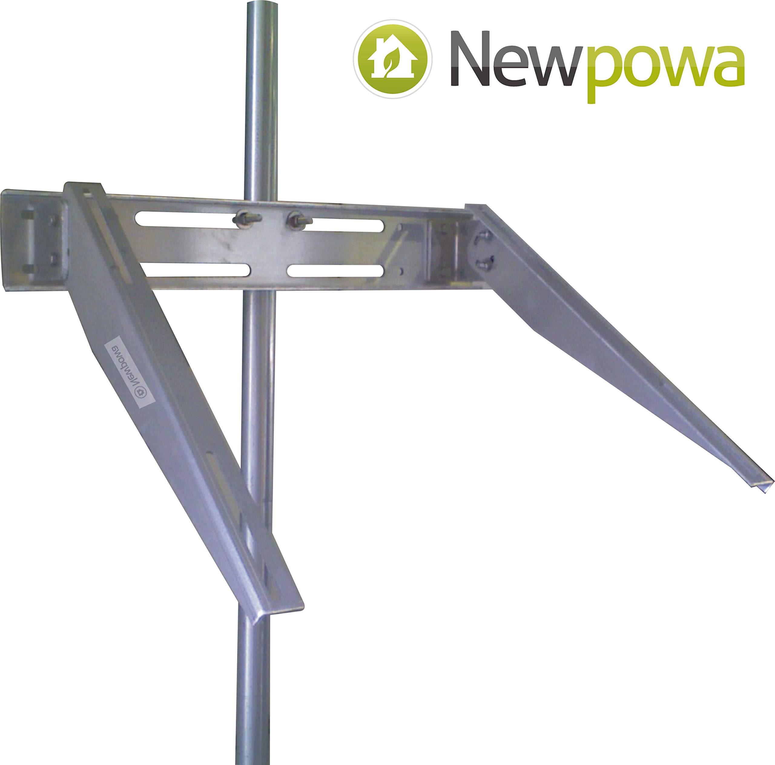 Newpowa Universal Solar Panel Heavy Duty Double Arm Pole Wall Mount