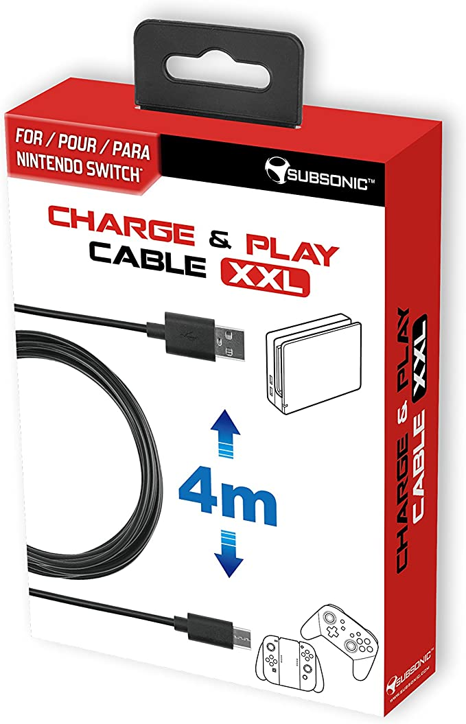 Subsonic - Charge & Play Cable XXL (Nintendo Switch): Amazon.es ...