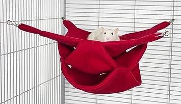Rodents Residence DREI Ebenen Hängematte Kleintier Höhle Haus Häuschen  Ratte Chinchilla Frettchen Hamster Degu
