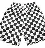 COOKMAN クックマン CHECKER チェッカーパターン ハーフパンツ ショーツ 白x黒 ホワイトxブラック