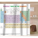 Amazon periodic table shower curtain eva vinyl the updated periodic table of elements shower curtain pvc free odorless non toxic fabric urtaz Image collections