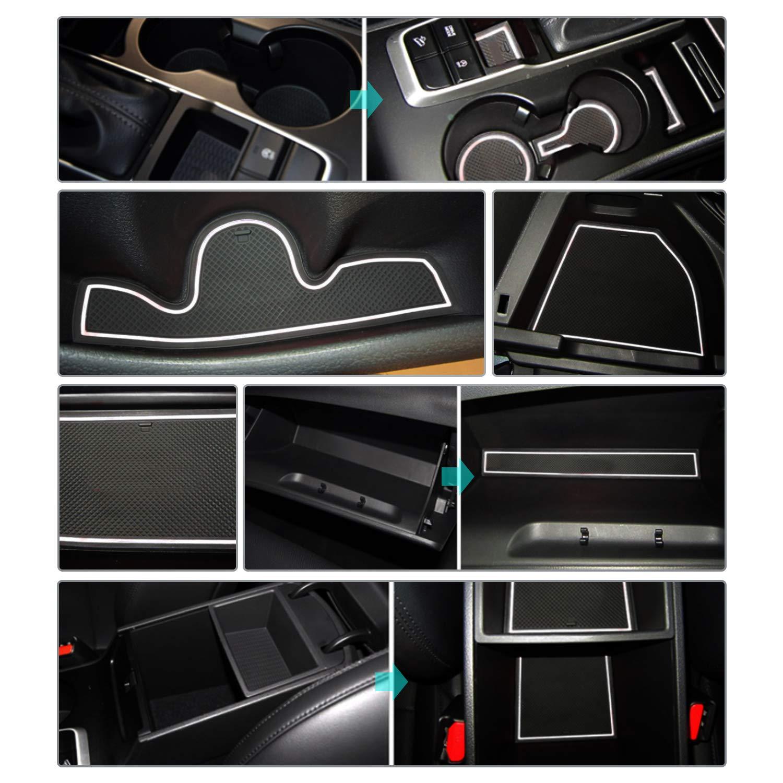 Rosso CDEFG Tappetino Antiscivolo per Hyundai Tucson TL Antipolvere Tappetini in Gommaper per Interni Auto