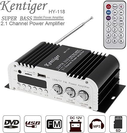 LP-168HA Hi-Fi 2.1 Stereo Amplifier Amp Radio MP3  DC12-15V Car Audio