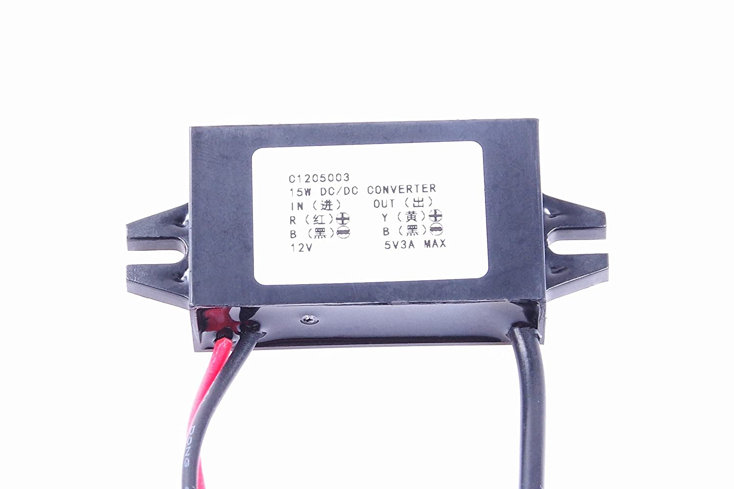 8523904124 KNACRO DC-DC 12V to 5V 3A Step-down power supply module Car power converter module A type USB female output port Over-temperature over-current short circuit protection USB Female