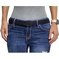 Tights Up Adjustable Elastic Stretch Belt. Flat Buckle. No Show. Non-Slip Back. Stretch belt for Women and Men