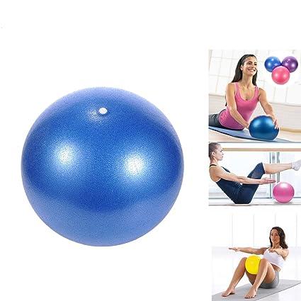 Pelota de yoga Pilates PVC a prueba de explosiones, resistencia, estabilidad, equilibrio de fitness, para niños embarazadas y mujeres, 25 cm