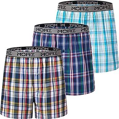Men/'s Cotton Rich Button Fly Jersey Print//Plain Assorted Boxers Size X-Large