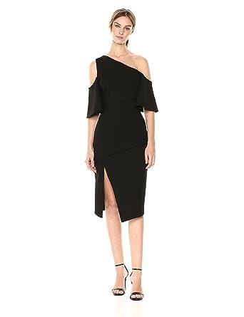 e0b4634725bd Elliatt Women s Apparel Women s Octave One Cold Shoulder Midi Dress with  Side Slit at Amazon Women s Clothing store
