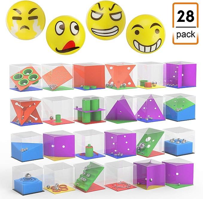 JIMS STORE Mini Juegos de Rompecabezas,Juegos de Habilidad con Niveles Diferentes para los Niños y Adultos(28 Pack): Amazon.es: Juguetes y juegos