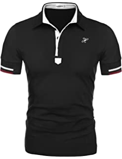dc5f922a Hotouch Mens Fashion Polo Shirts Casual Slim Fit Basic Sport Polo T-Shirts