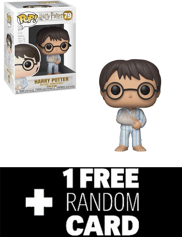 FunkoPOP Harry Potter: Harry in PJs & 1 Random Fantasy Trading Card Pack: Amazon.es: Juguetes y juegos