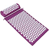 ValueHall Acupressure Mat and Pillow Set, Massage Mat with Separate Pillow -For Back & Neck Muscle Relaxation V7009-1 (Purple)