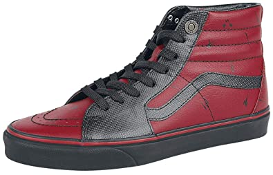 Vans Marvel Deadpool SK8-Hi Sneakers red-Black EU37  Amazon.co.uk ... 038cbb831
