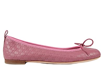 091ef946167f7 Gucci women's leather ballet flats ballerinas micro gg pink UK size ...