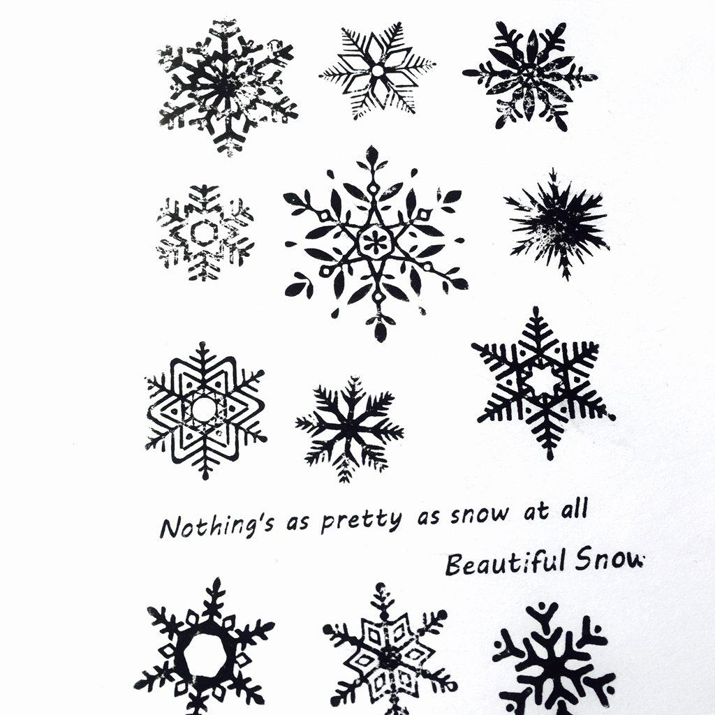 Guoyy fiocco di neve fai da te in silicone trasparente timbro Cling Seal Album da collezione goffrato Album Decor