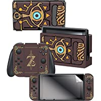 """Controller Gear Nintendo Switch Skin & Screen Protector Set Officially Licensed By Nintendo - The Legend of Zelda: Breath of the Wild: """"Sheikah Slate"""" - Nintendo Switch"""