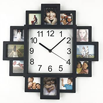 DIY Frame Clock, TimeLike DIY Wall Clock Modern Design DIY Photo Frame Clock  Plastic Art